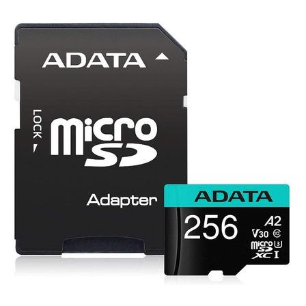 Tarjeta de memoria Adata AUSDX256GUI3V30SA2-RA1  Premier Pro con adaptador SD 256GB