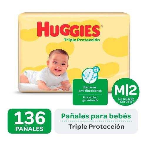 Pañales Huggies Classic Triple Proteccion Ahorrapack Pack X2