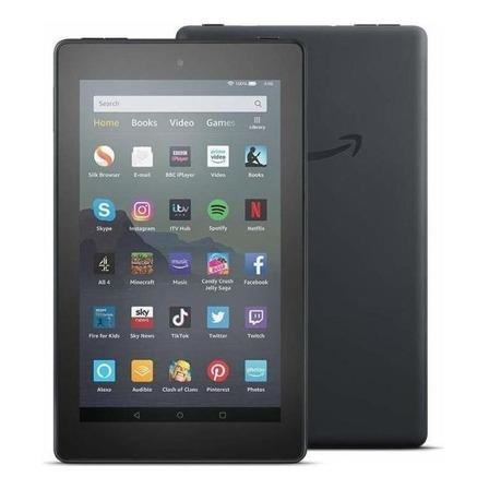 """Tablet Amazon Fire 7 2019 KFMUWI 7"""" 16GB black com memória RAM 1GB"""