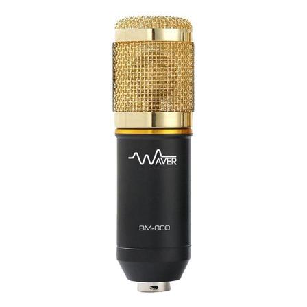 Microfone Waver BM-800 condensador  unidirecional preto