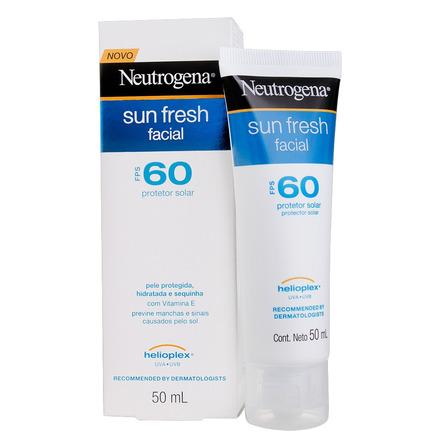 Protetor solar Neutrogena Sun Fresh Facial  FPS60 50 ml