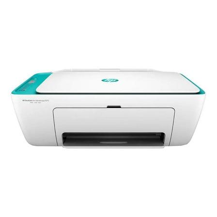Impressora a cor multifuncional HP DeskJet Ink Advantage 2675 com wifi 100V/240V branca e azul