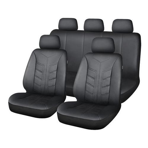 Fundas Cubreasientos En Ecocuero Negro - Compatible Airbag