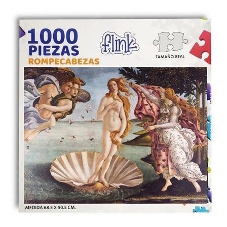 Rompecabezas Flink Boticelli, El Nacimiento de Venus de 1000 piezas