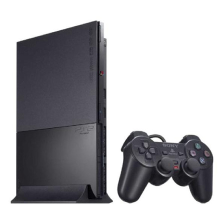 Sony PlayStation 2 Slim Standard cor  charcoal black