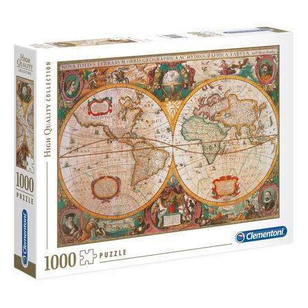 Rompecabezas Clementoni Old Map de 1000 piezas