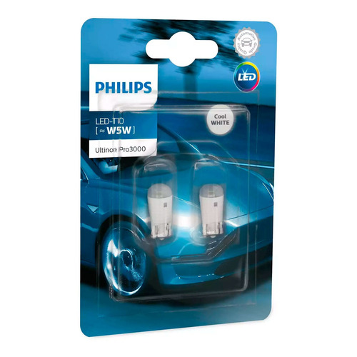 Lampara Philips Led T10 12v Blanca Ultinon Pro Pack X2