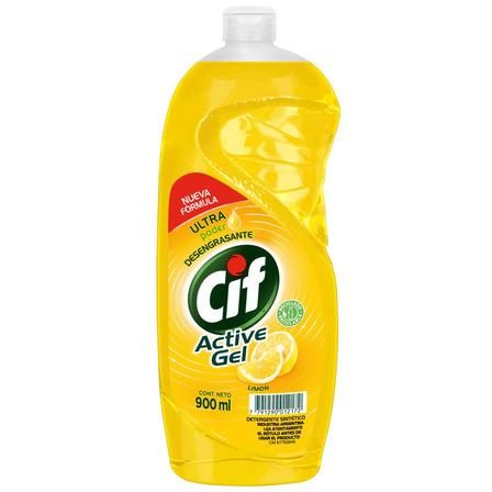 Detergente Cif Active Gel Limón concentrado en botella 900mL
