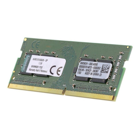 Memória RAM ValueRAM color Verde  8GB 1x8GB Kingston KVR21S15S8/8