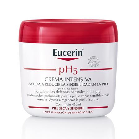 Crema líquida Eucerin Intensiva PH5 en frasco 450ml