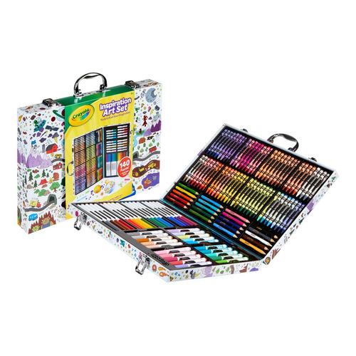 Crayola: Maletin C/accesorios Y Hojas Para Colorear 140pcs