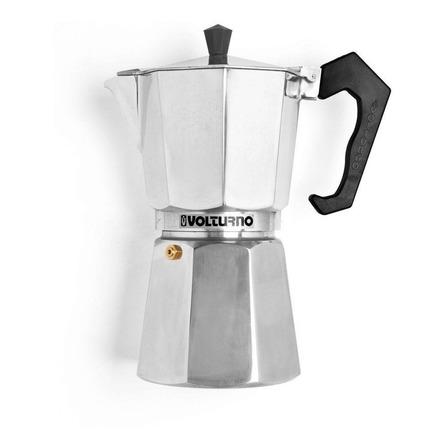 Cafetera Volturno Clásica 12 Pocillos aluminio