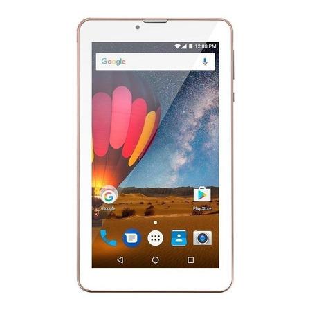 "Tablet Multilaser M7 3G Plus Dual NB30 7"" 16GB rosa com memória RAM 1GB"