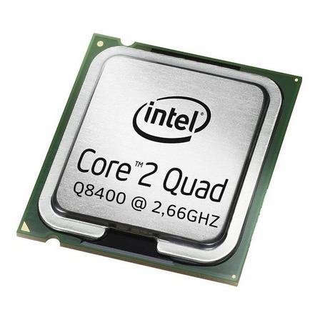 Processador Intel Core 2 Quad Q8400 BX80580Q8400 de 4 núcleos e 2.66GHz de frequência