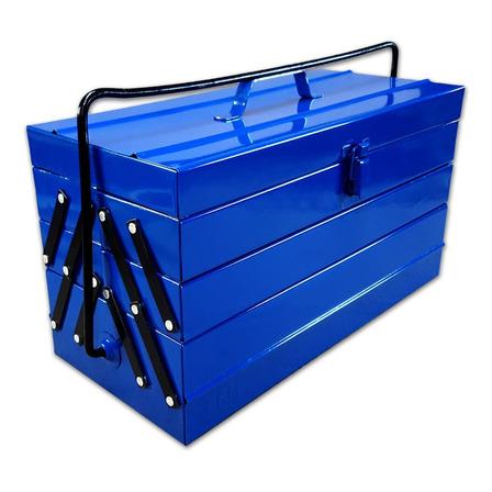 Caja de herramientas EFM Metalúrgica N°8 de metal 204mm x 450mm x 243mm azul
