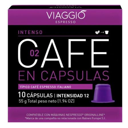 Cápsulas de café intenso Viaggio 10u