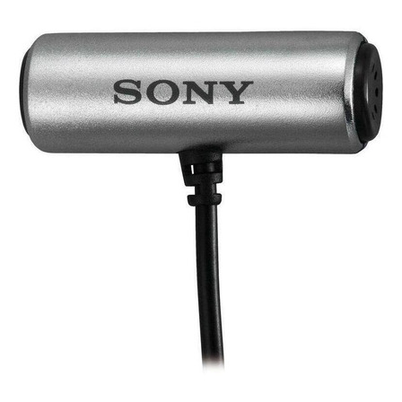 Microfone Sony ECM-CS3 condensador  omnidirecional cinza