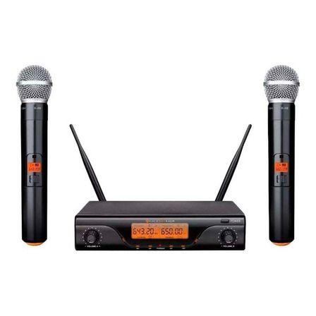 Microfones sem fios Kadosh K-412M dinâmico  cardióide preto