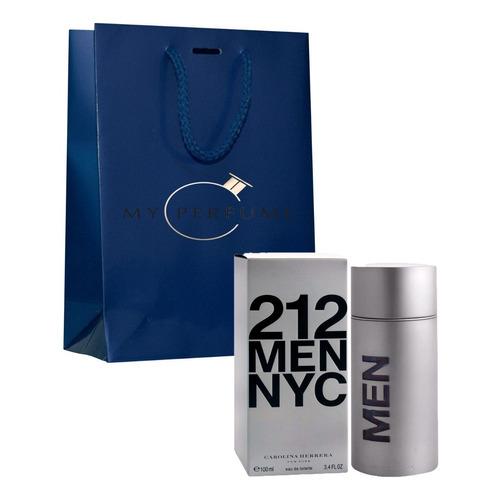 Perfume Locion 212 Men Nyc 100ml Import - mL a $750