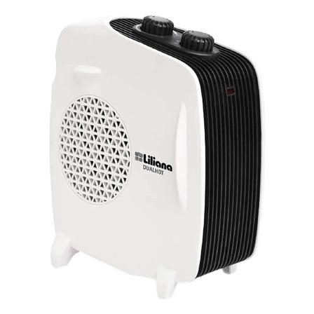 Calefactor eléctrico  caloventor Liliana CFH510  blanco y negro 220V - 240V