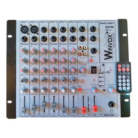 Console  Winvox WMX-612V  de mistura 110V/220V