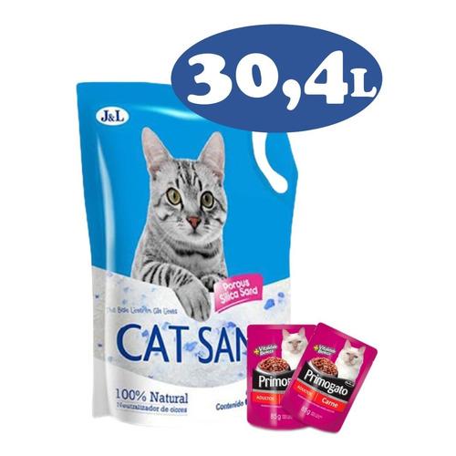 Piedras Sanitarias Gel Silica Para Gatos 12,8 Kg + Regalo