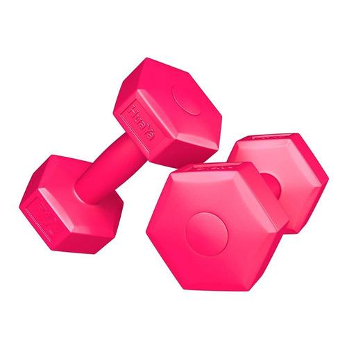 Mancuerna 2kg Revestida Pvc Rutinas Gimnasia Fitness Crazy S