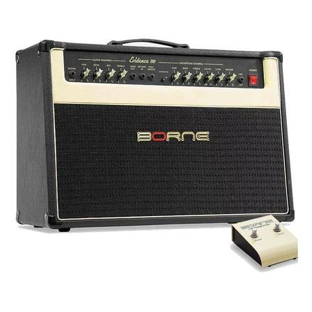 Amplificador Borne Evidence 100 Combo 100W preto e dourado 110V/220V