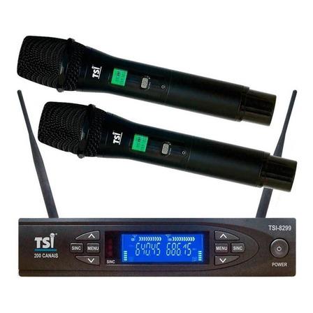 Microfones sem fios TSI 8299-UHF dinâmico  supercardióide