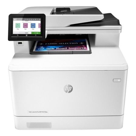 Impressora a cor multifuncional HP LaserJet Pro M479FDW com wifi 110V branca