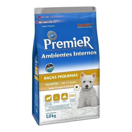 Alimento PremieR Super Premium Ambientes Internos para cachorro filhote de raça pequena sabor frango/salmão em saco de 1kg