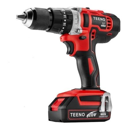 Taladro eléctrico percutor y destornillador Teeno 916 inalámbrico 1650rpm rojo 20V
