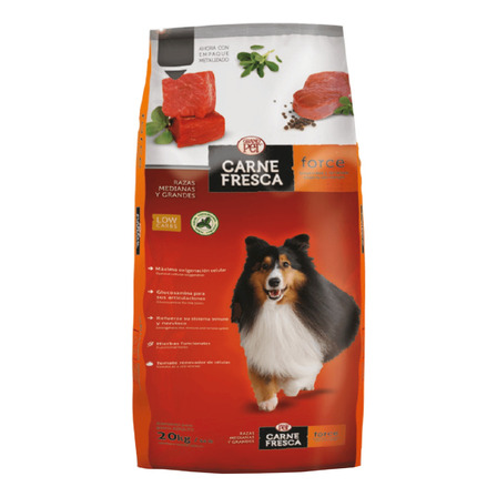 Alimento Carne Fresca Force para perro adulto de raza mediana/grande sabor mix en bolsa de 20kg