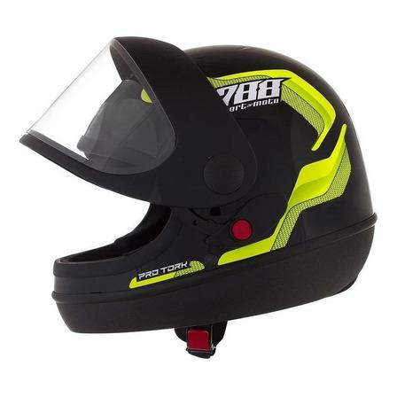 Capacete para moto  integral Pro Tork Sport Moto  788  amarelo sport moto 788 tamanho 56
