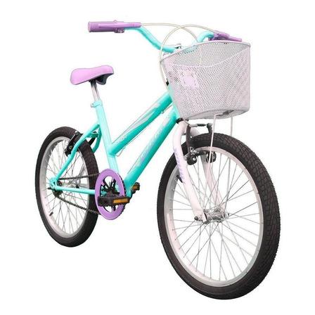 "Bicicleta  de passeio infantil Track & Bikes Cindy aro 20 14.5"" freios v-brakes cor azul/branco"