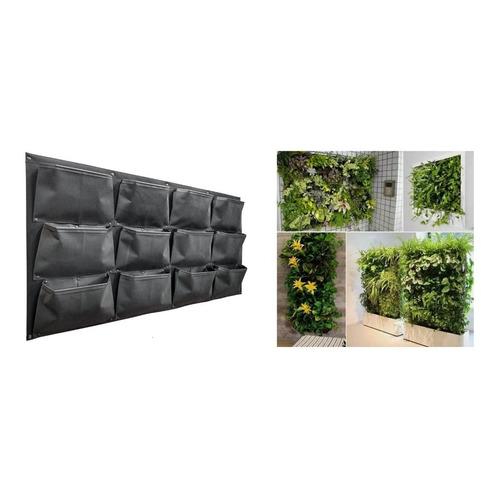 Jardin Vertical 12 Bolsillos Muro Verde Jv-4