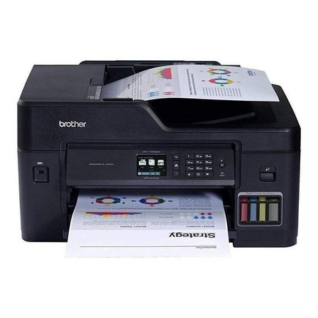 Impresora a color multifunción Brother MFC-T4 Series MFC-T4500DW con wifi 220V negra