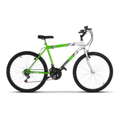 Bicicleta  De Passeio Ultra Bikes Aro 26 Bicolor 18 Marchas Aro 26 18v Freios V-brakes Cor Verde-kawasaki/branco