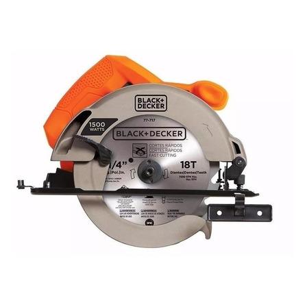 Serra circular elétrica Black+Decker CS1024 184mm 1500W 60Hz laranja 220V