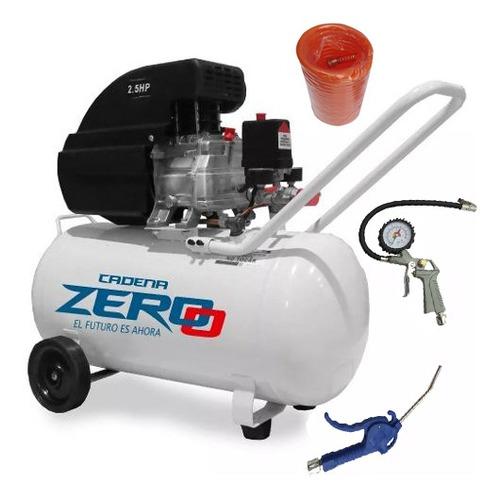 Compresor De Aire 50 Litros 2,5 Hp Zero Portátil Kit 3 Acces