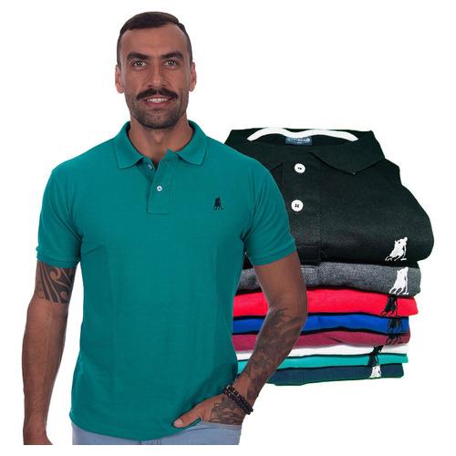 Kit 5 Camisa Polo Masculina Original Atacado C Nota Fiscal