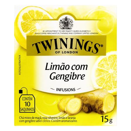 Chá Twinings limão com gengibre em sachê 15g 10 u