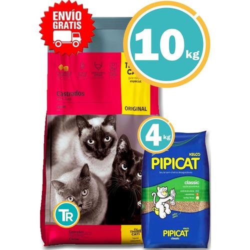 Ración Three Cats Original Gato Castrado + Obseq Y E. Gratis