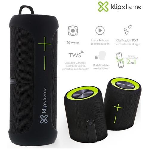 Parlante Bluetooth Acuatico Extra Bass Klip Xtreme Vive 360