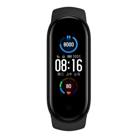 """Xiaomi Mi Smart Band 5 1.1"""" caixa de  plástico pc pulseira  black de  elastômero termoplástico e liga de alumínio XMSH10HM"""