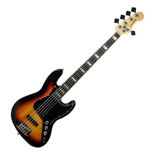 Contra Baixo Elétrico 5 Cordas Auburn Jazz Bass Sunburst