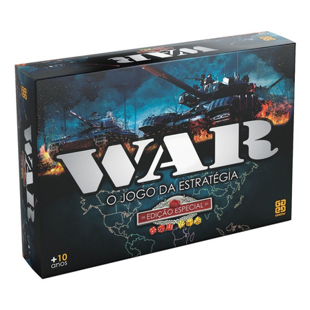 Jogo de mesa War Especial Grow