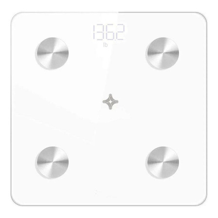 Balança corporal digital de banheiro Ekaza Ekaza Fitness EKXT-010B branca, hasta 180 kg