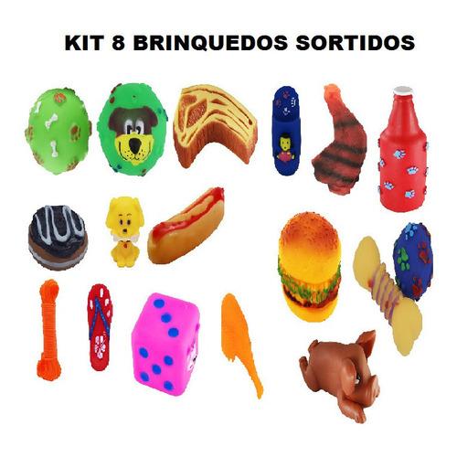 Kit 8 Brinquedo Mordedor Para Pet Cachorro Atacado