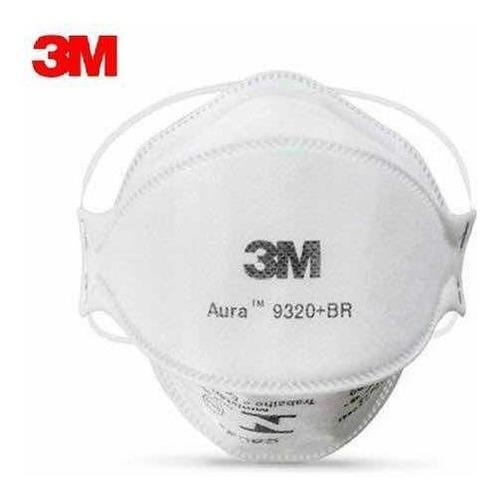 10 Máscara Aura 9320 Hospitalar N95 Original S/ Valvula